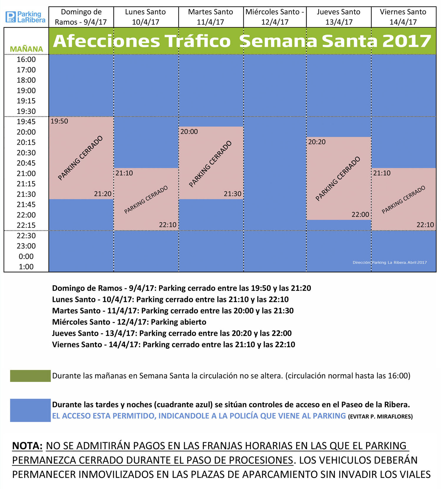 Parking-La-Ribera-Horario-Semana-Santa-2017