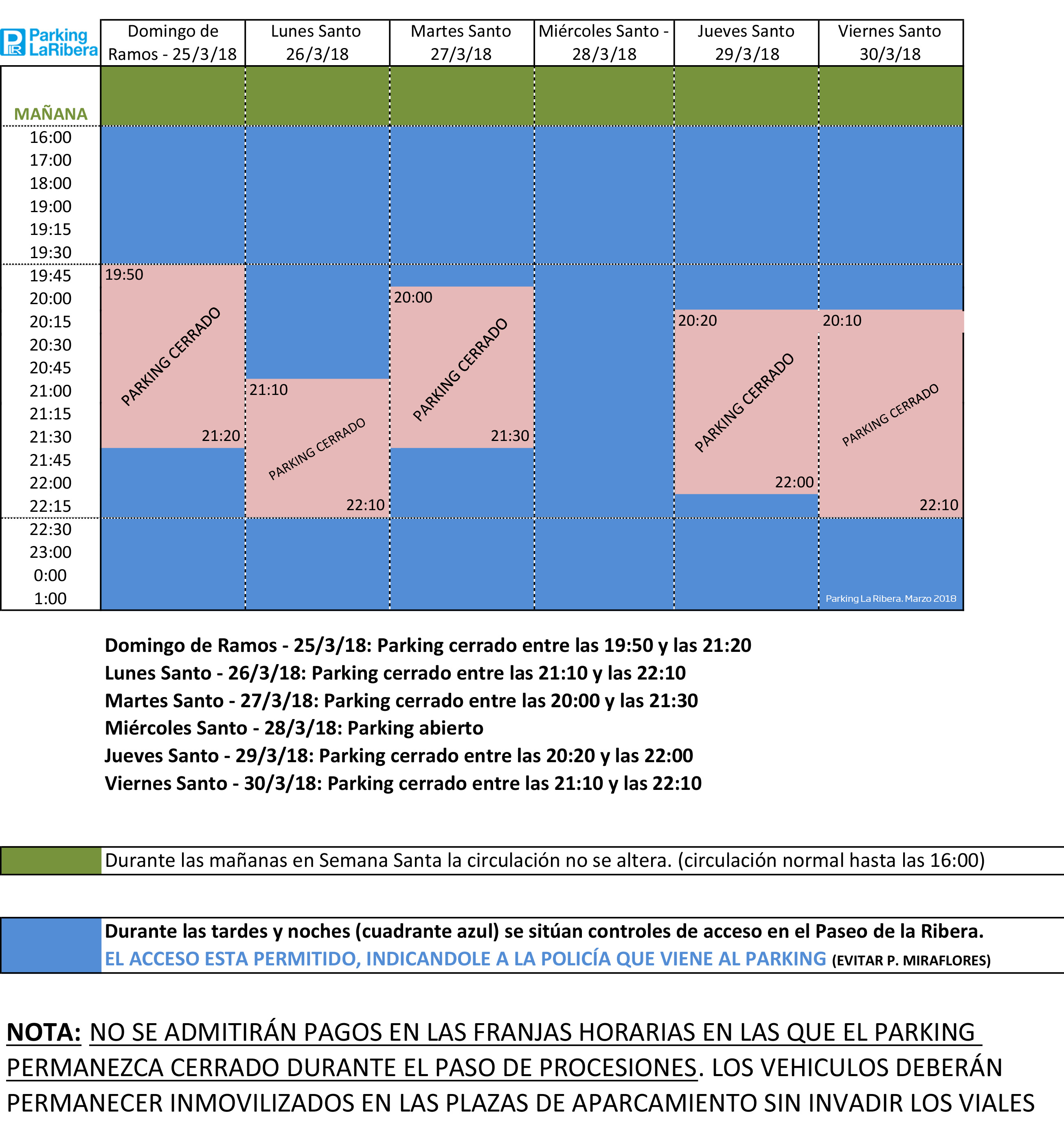 Parking-La-Ribera-Horario-Semana-Santa-2018